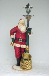 Santa with Lamp post life size (JR 1749) - Thumbnail 03