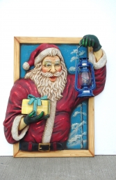 Santa in window with Oil Latern (JR 1658)