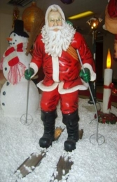 Santa on Skis Life size figure (JR 2041)