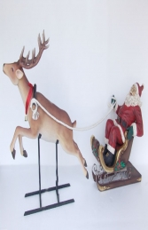 Santa on Sleigh with Reindeer (JR 2296)