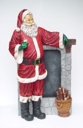 Santa Standing Beside a Chimney (JR 2257) - Thumbnail 01