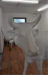 Cow - Smooth White head up with horns (JR SB001) - Thumbnail 03
