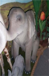 Elephant Sitting 5ft (JR 2232) - Thumbnail 03