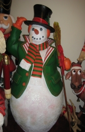 Snowman with Broom 6ft (JR 787009) - Thumbnail 01