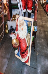 Santa in window holding a bowl 3.5ft (JR 1649)