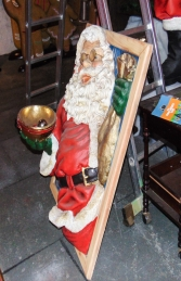 Santa in window holding a bowl 3.5ft (JR 1649) - Thumbnail 03