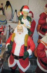 Santa with Elf Girl 7.7ft (JR 2735) - Thumbnail 03