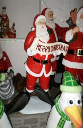 Santa with Xmas Banner 5ft (JR 100008) - Thumbnail 01