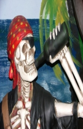 Skeleton Pirate sat on Treasure Chest Life-size (JR FJ) - Thumbnail 02