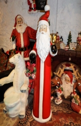 Skinny Santa with Bell and Wreath - 6ft (JR 160156)