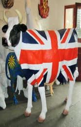 Union Jack Cow life-size (JR 1634UJ)