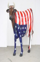 American Flag Cow life-size (JR 7013) - Thumbnail 03