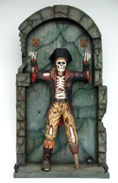 Pirate Skeleton Chained to Wall 7ft+ (JR FC) - Thumbnail 01