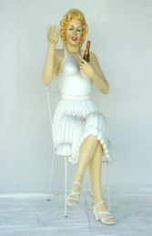 Marilyn Monroe Sitting Life-size (JR 1530) - Thumbnail 02