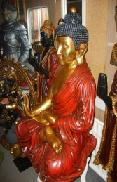 Buddha Sitting Gold 3.5ft (JR AASBG) - Thumbnail 03