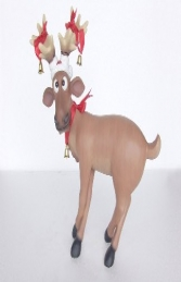 Funny Reindeer standing on crossed legs (JR 2318) - Thumbnail 01