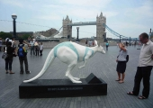 KANGAROO AT TOWER BRIDGE