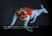 'NEVER SKIP BREAKFAST' KANGAROO