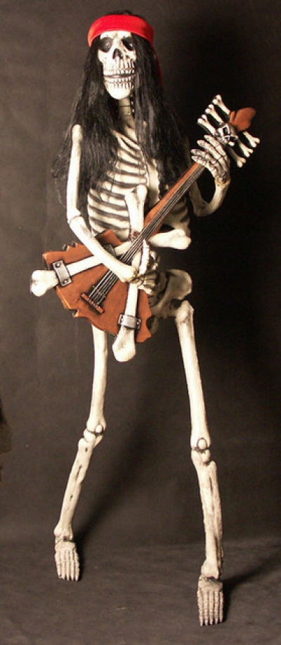 ROCK AND ROLL SKELETON - BASS GUITAR PLAYER