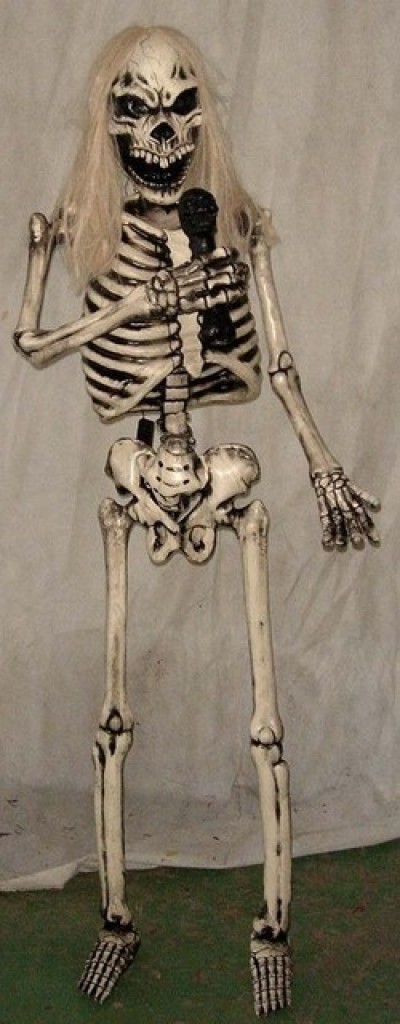 ROCK AND ROLL SKELETON - SINGER
