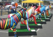 Donkeys on Parade in Guernsey